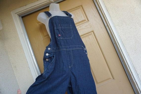 Dickies Vintage dark  blue denim overalls size Lar