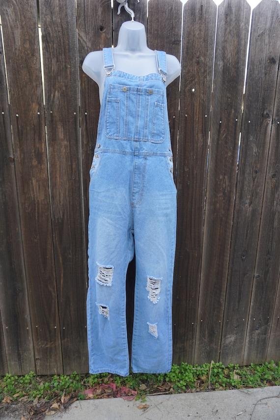 Blue size XL overalls denim jeans misslook