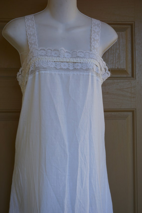 Miss Dior long nightgown size 7/8 lingerie cotton