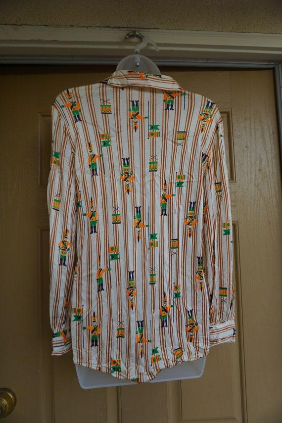 Nutcracker bodysuit 1970s size Large bodysuit Chr… - image 7