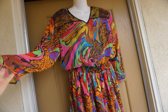 Diane Fres size L Large dress 1980s 1990s