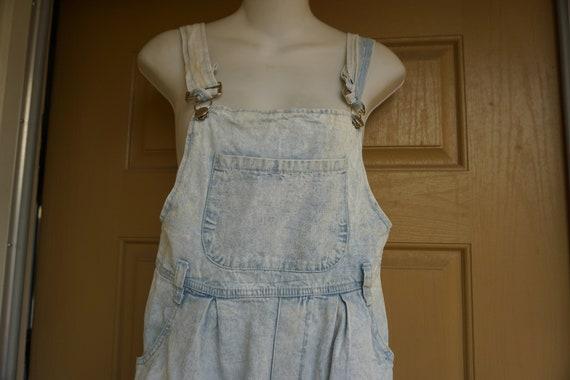 SHORTS Vintage 1990s pastel blue shorts overalls s