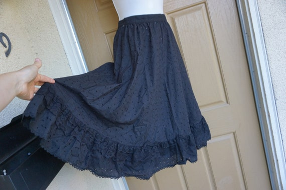 All black Gunne Sax skirt prairie skirt small gunn