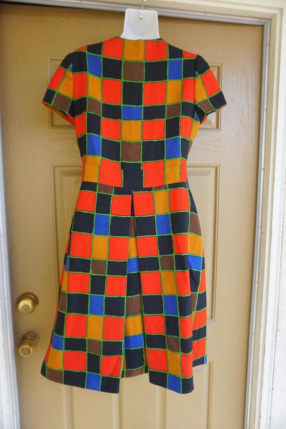 ARNOLD SCAASI desiger dress Vintage heavy knit dr… - image 10