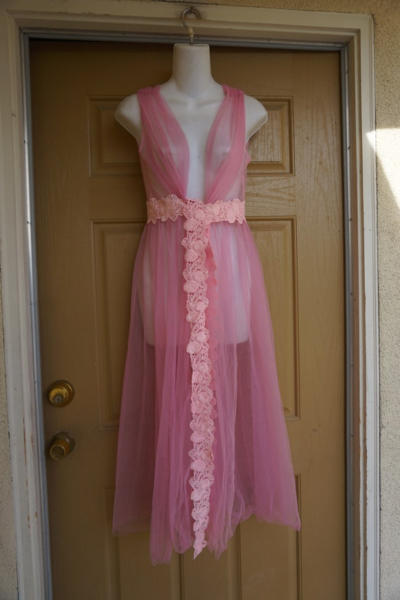 Vintage 90/'s Pastel Pink Floral Lace Valentine/'s Bridal Midi Layered Pleated Slip Dress Nightdress Lingerie Size 6 8
