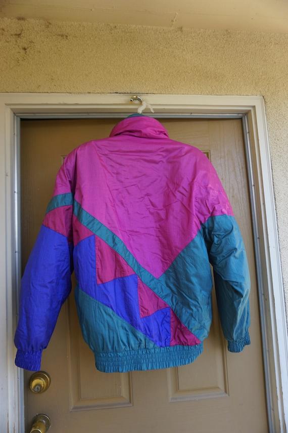 Vintage 1980s or 90s  nylon / polyester ski jacke… - image 5