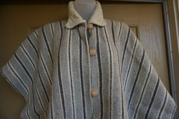 Short Coat Rare 60s Wool Jacket Hand Woven Cape Medium Size Western Jacket Tapestry Jacket Welsh Wool Jacket
