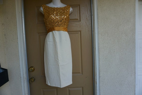 1950s gold sequined Dress size Large