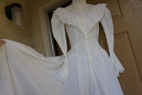 White Gunne sax style prairie dress maxi dress lon