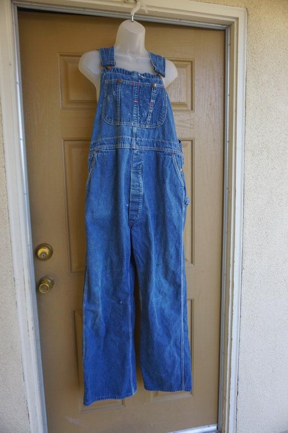 Vintage blue denim Montgomery Ward overalls size