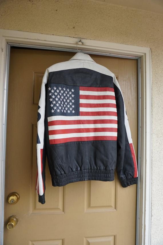 Black Leather Jacket MENS Size extra large 1980s 1