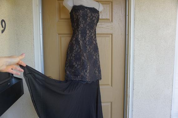 Size 14 RICKIE FREEMAN vintage maxi mermaid trump… - image 1