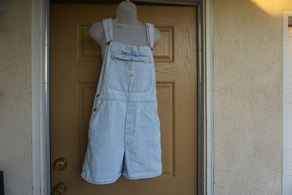 Vintage 1990s  blue LEE shorts overalls size M Med