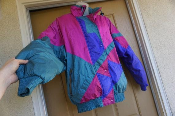 Vintage 1980s or 90s  nylon / polyester ski jacke… - image 1