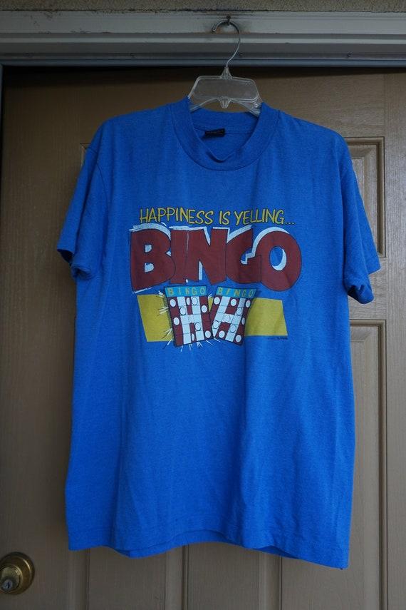 Vintage BINGO Large Tshirt 90s 1990s