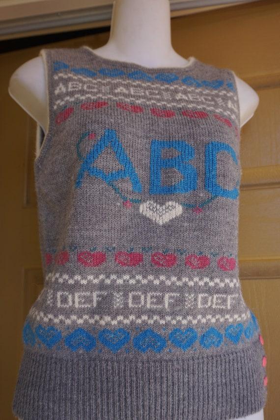 ABCs vintage sweater vest - image 3