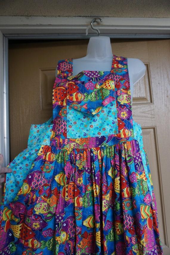 Vintage handmade dress overalls skirt size medium