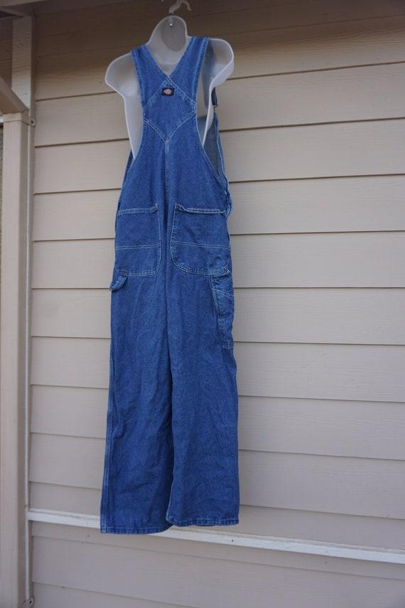 Vintage 90s  blue denim Dickies overalls size 32 3