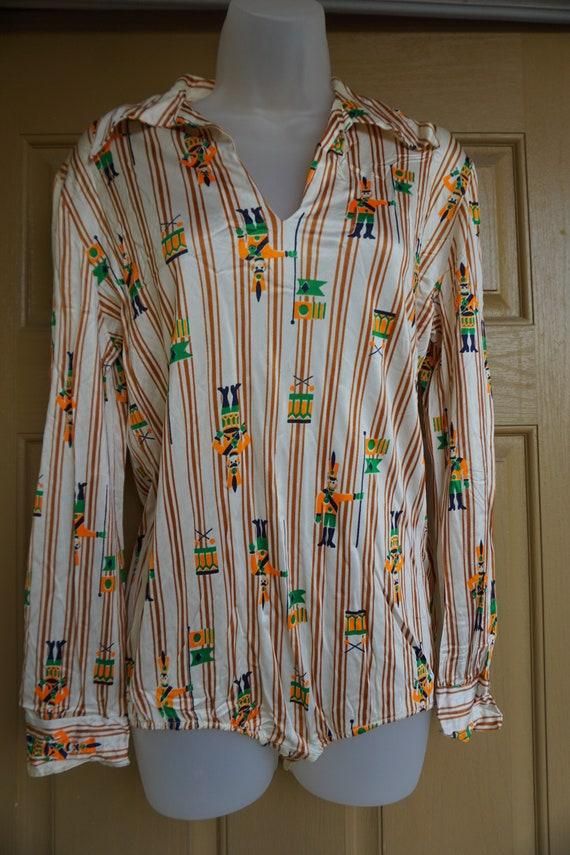 Nutcracker bodysuit 1970s size Large bodysuit Chr… - image 5