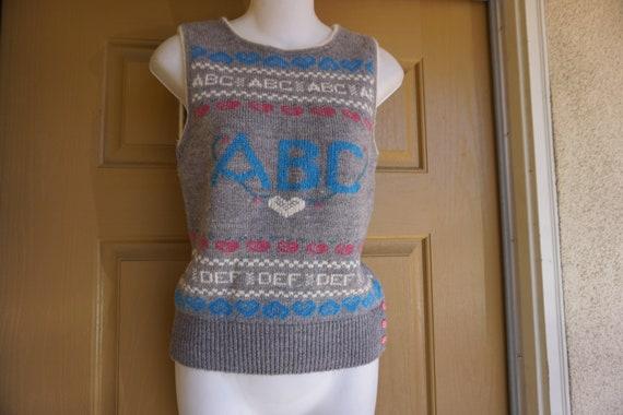 ABCs vintage sweater vest - image 1