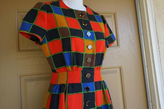 ARNOLD SCAASI desiger dress Vintage heavy knit dr… - image 1