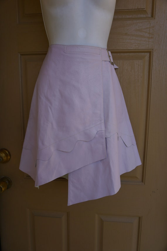 Pastel purple leather skirt size small