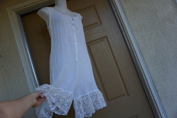 Romper nighty nightgown white small medium romanti