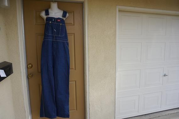 Vintage 90s  blue denim Dickies overalls size 38 3