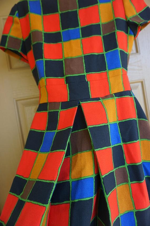 ARNOLD SCAASI desiger dress Vintage heavy knit dr… - image 2