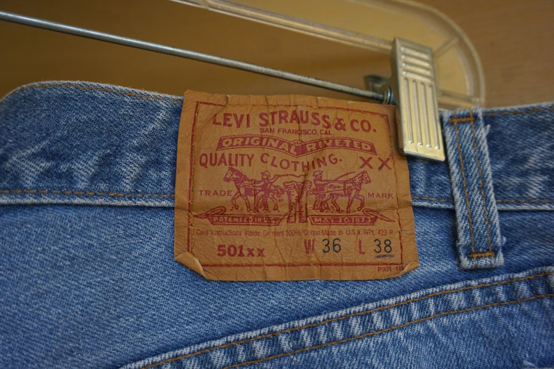 36 X 38 TALL extra long USA made 501xx 36 X 38 extra tall long Levi/'s denim jeans  button fly Made in USA 501/'s