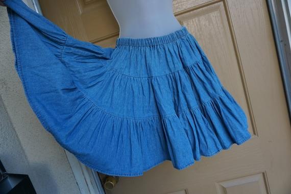 Fredericks of Hollywood Vintage short denim skirt