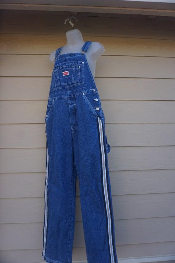 Revolt Vintage blue overalls size L Large denim