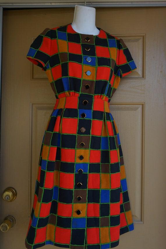 ARNOLD SCAASI desiger dress Vintage heavy knit dr… - image 5