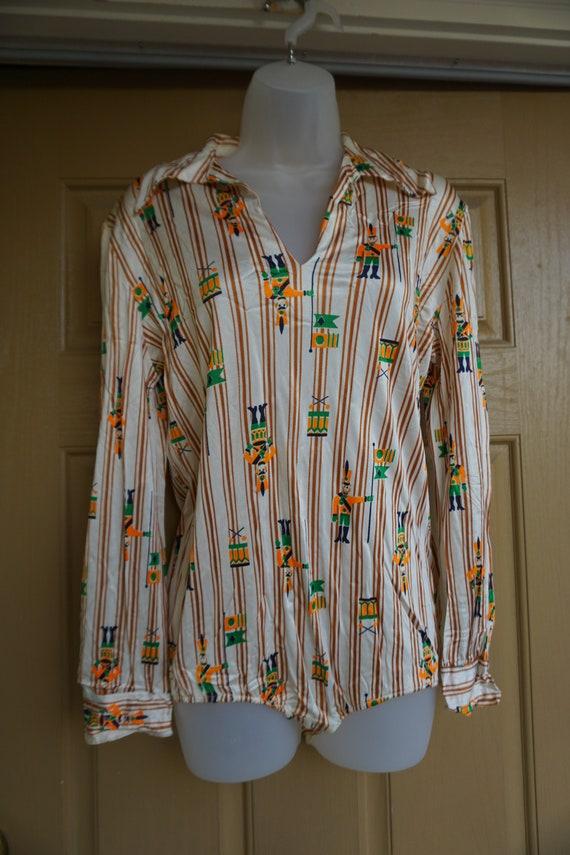 Nutcracker bodysuit 1970s size Large bodysuit Chr… - image 4
