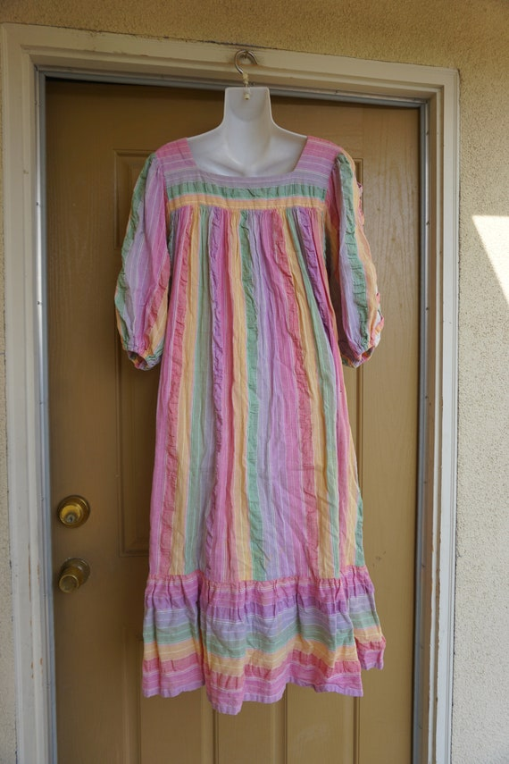 RAMONA RULL pastel Rainbow mirrored striped print… - image 9