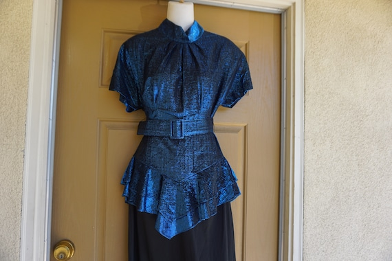 Vintage metallic shimmer party dress by WD2  size