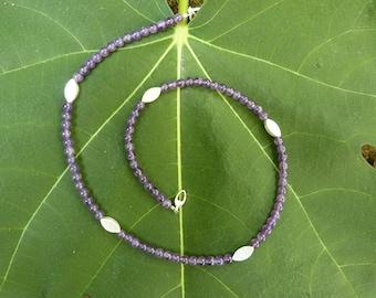 Necklace Amethyst, Silver