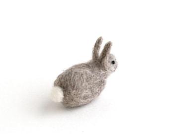 DIY Kit - Baby Bunny Needle Felting Kit - Needle Felted Animal Kit