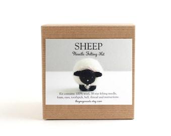 DIY Kit - Sheep Needle Felting Kit - Needle Felted Animal Kit