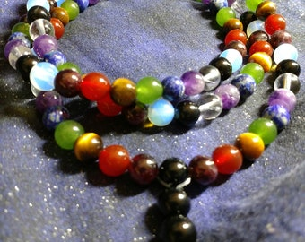 Night on the Mountain Mala Necklace