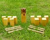 Handmade Kubb Game