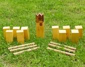 Handmade Kubb Game