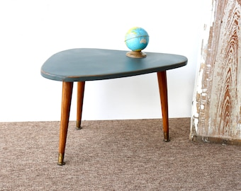 Midcentury Kidney Shaped Wooden, Painted Gray, Chidu0027s Table, Midcentury  Kids Table