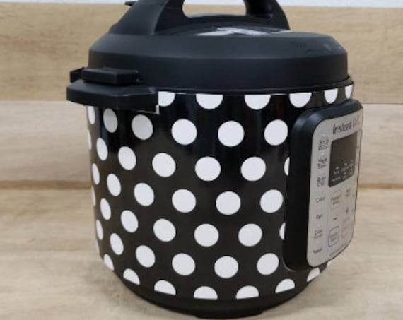 Black and White Polka Dot Wrap for Instant Pot® brand pressure cooker All Wrapped Up