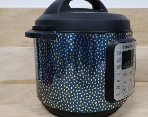 Blue and Gold Dots Wrap for Instant Pot® brand pressure cooker