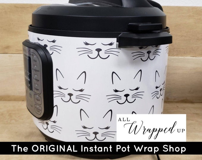 Cat Whiskers #2, Instant Pot Wrap,  Removable AND wipe able, Mealthy Multicooker Wrap