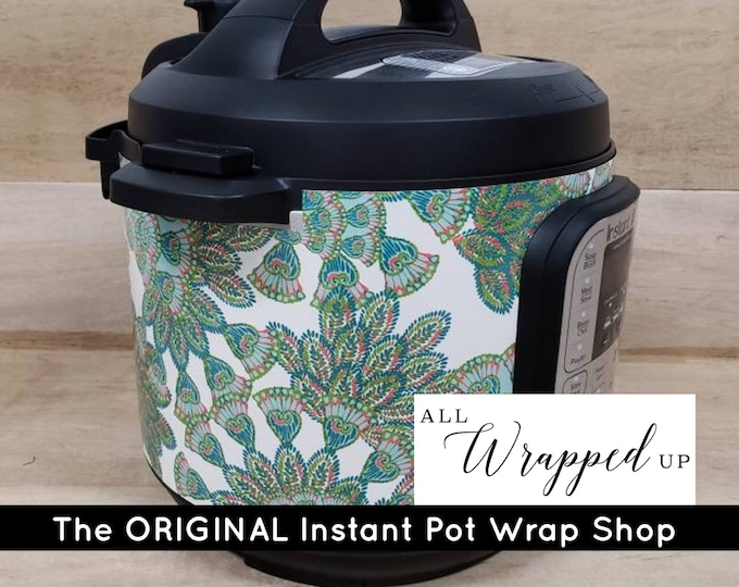 Peacock, Instant Pot Wrap,  Removable AND wipe able, Mealthy Multicooker Wrap