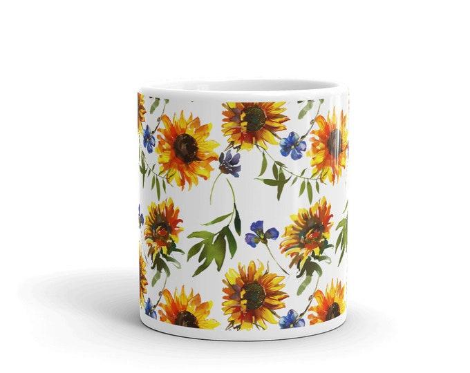 Boho Sunflower 11 Ounce Coffee Tea Mug