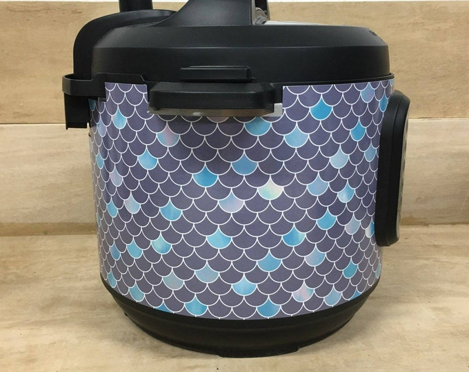 Purple Mermaid, Pressure Cooker Wrap, Instant Pot Wrap Cover or Mealthy wrap cover decal magnetic closure, removable AND wipe able
