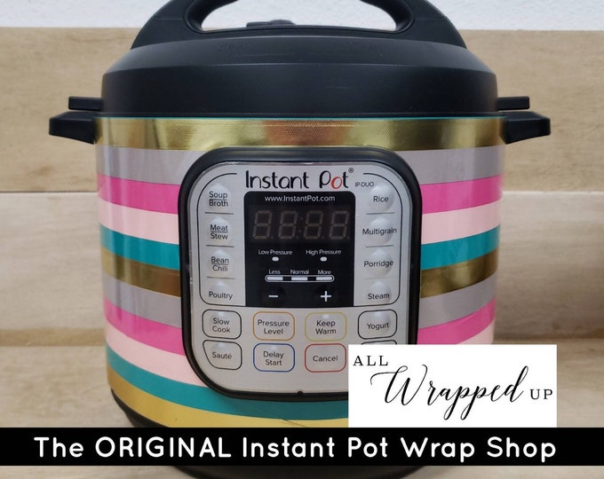Diva Stripes, Pressure Cooker Wrap, Instant Pot Wrap Cover or Mealthy